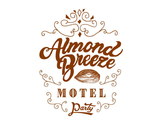 """Almond Breeze Motel Party""  logo design"