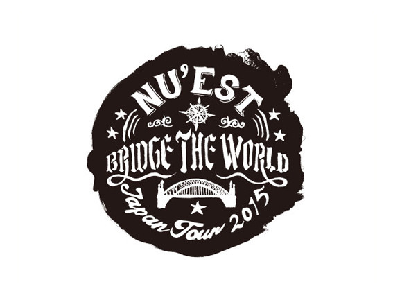 """NU'EST BRIDGE THE WORLD"" Logo Design"
