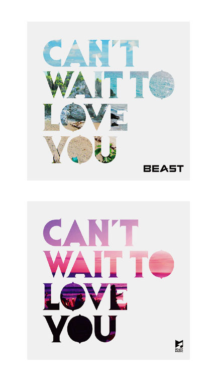 "BEAST ""CAN'T WAIT TO LOVE YOU"" CD Design"